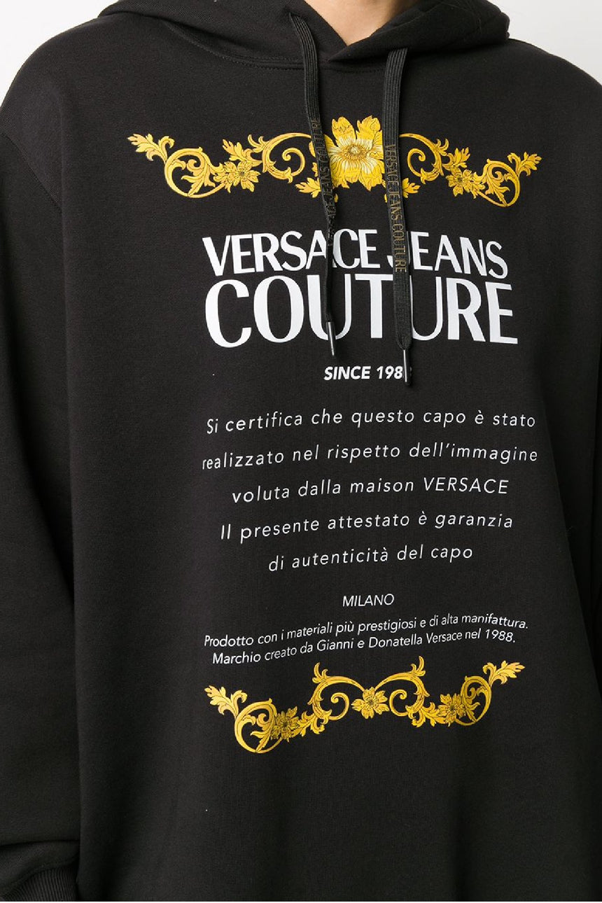 Versace Jeans Couture Logo Print Hoodie