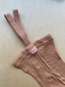 SILLY SILAS - FOOTLESS COTTON TIGHTS - LIGHT BROWN