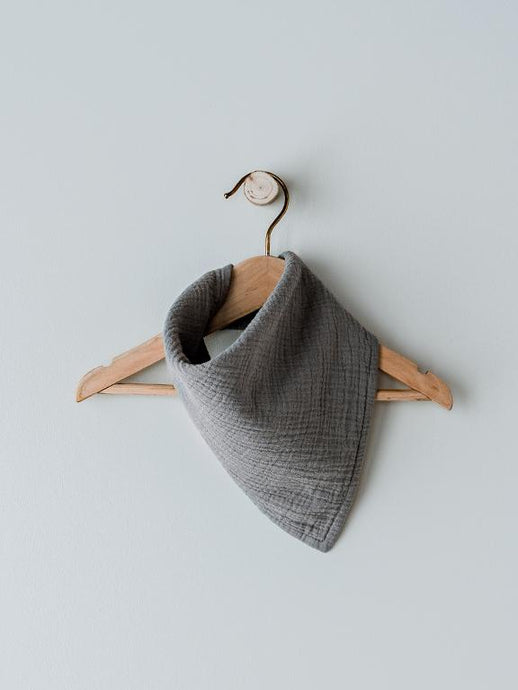 The Muslin Bandana - Lead Grey