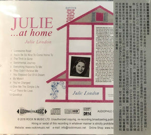 JULIE LONDON - JULIE....AT HOME 2016 (CD)