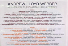 Load image into Gallery viewer, ANDREW LLOYD WEBBER - UNMASKED :THE PLATINUM COLLECTION (4CD)