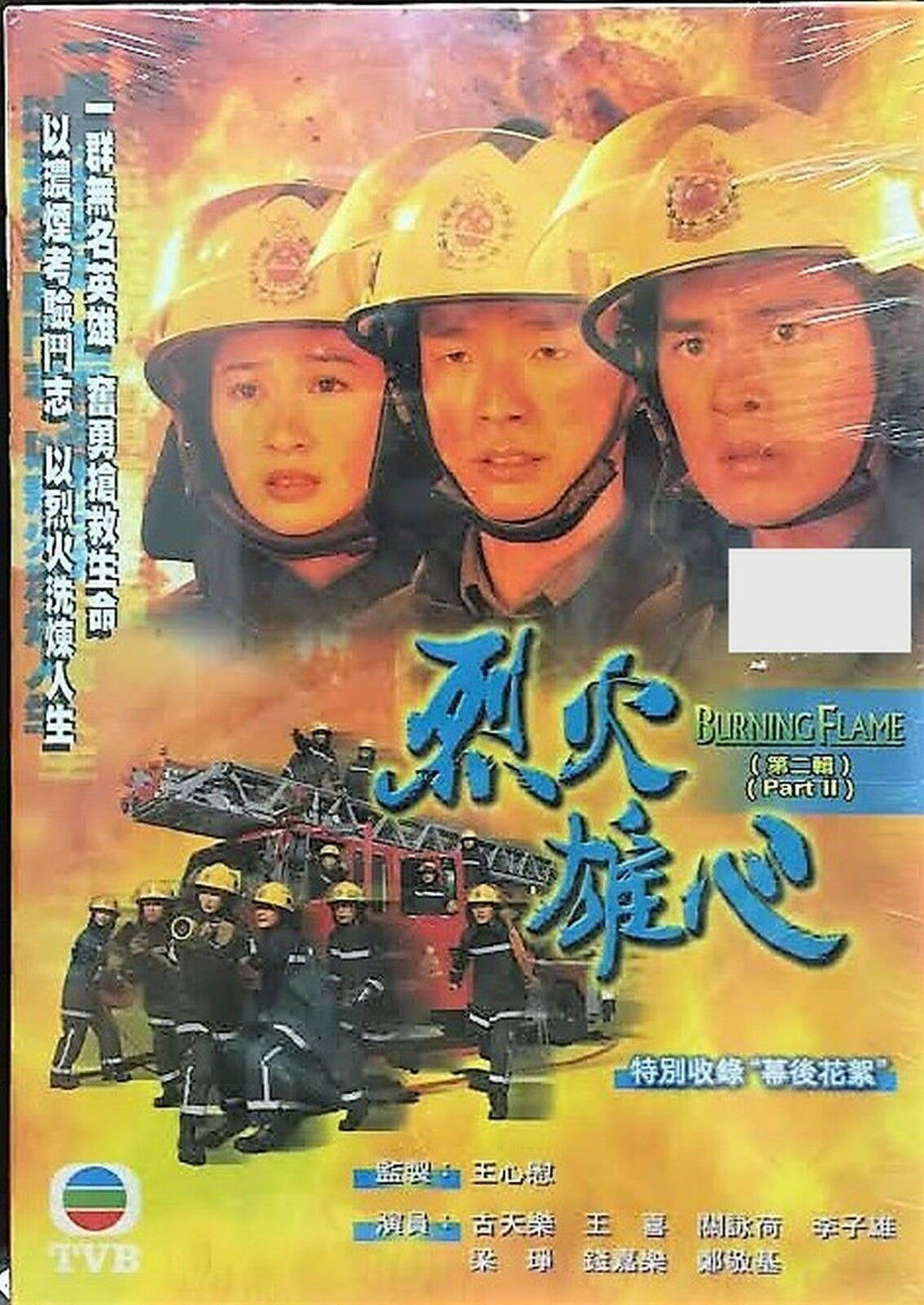 BURNING FLAME 1998 烈火雄心 PART 2 end TVB (5DVD) NON ENGLISH SUB (REGION FREE)