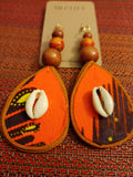 Fabric Teardrop Mo'Tiff Earrings