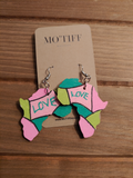 Mo'Tiff Hand Painted Earrings