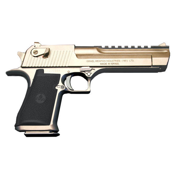 ... Desert Eagle Left Side from above with Drum Silencer and Combat Sights  ...