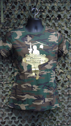 BFV Ladies Camo Logo T-Shirt