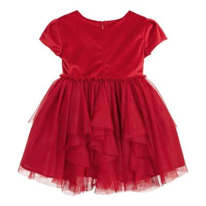 Red Voile Dress