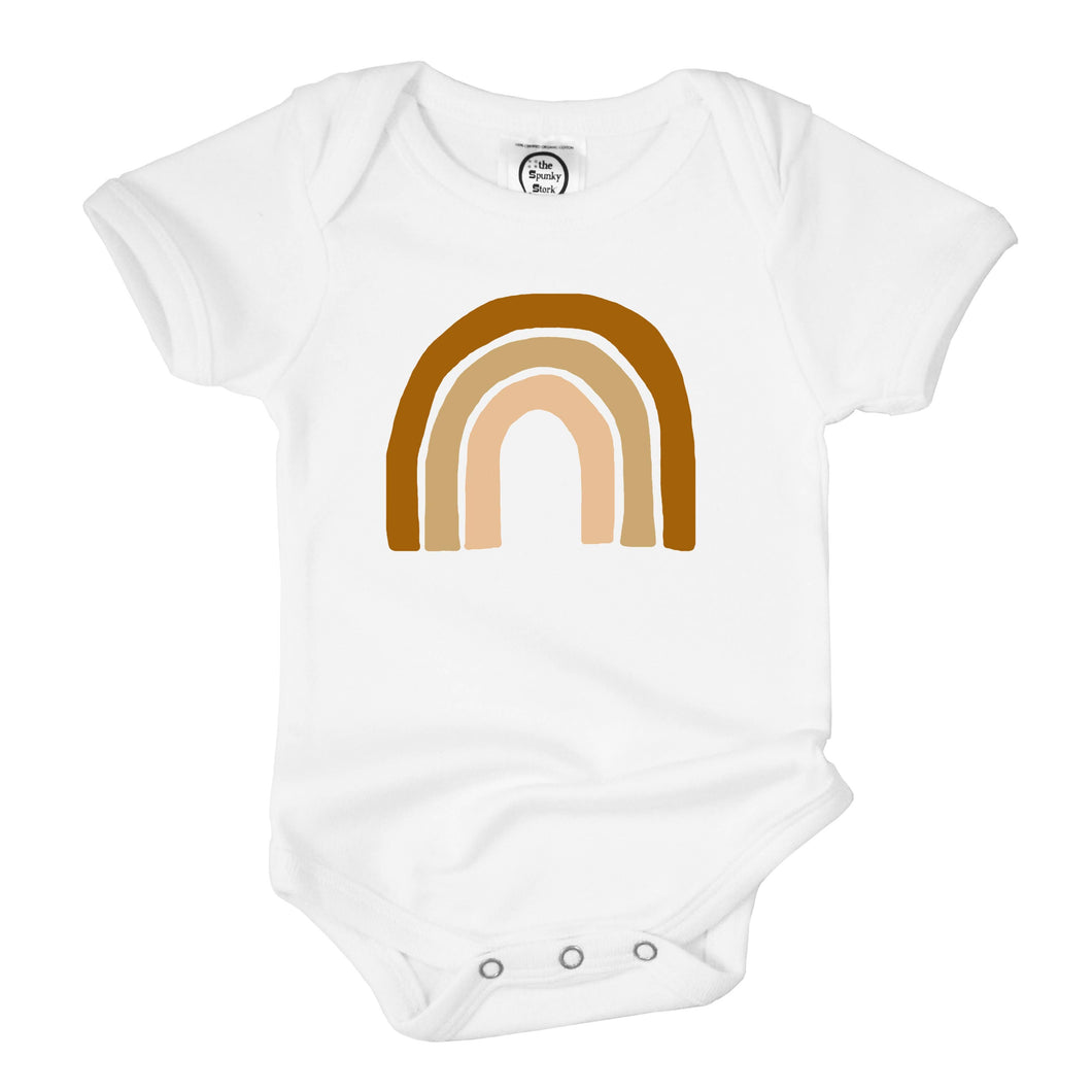 Earthy Rainbow Baby Organic Cotton Bodysuit & Toddler T-shirt