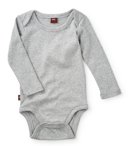 Basically Baby Bodysuit - Med Heather Grey