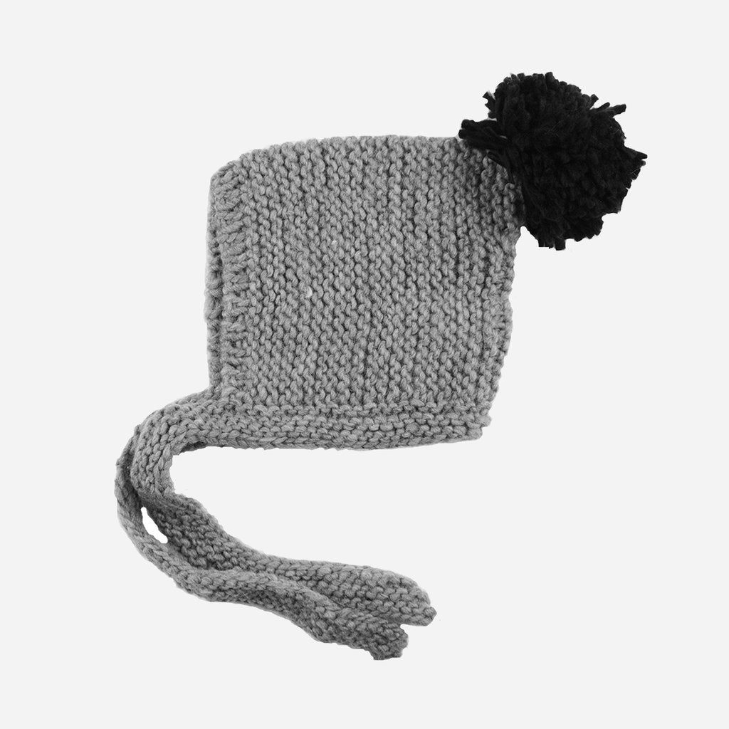 Ash Hand-Knit Bonnet: Gray