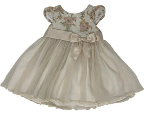 Ivory Metallic Lace Dress w/ Bloomer