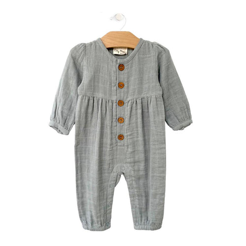Muslin Button Romper