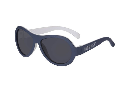 Two Toned Aviators Sunglasses - Nautical Navy