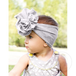 Large Fan Flower Cotton Baby Headband