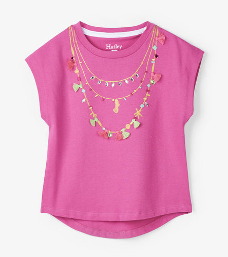 Mermaid Charms Necklace Tee