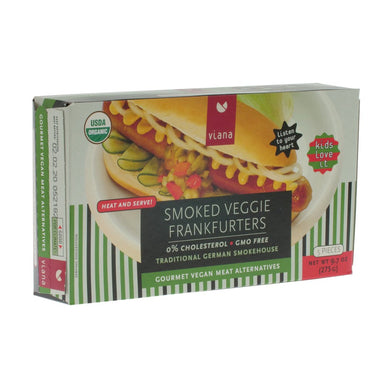 Organic Smoked Hotdogs. The Plant Pantry is a Supplier and Distributor of Vegan and Plant Based Food to Sydney Cafes and Restaurants.