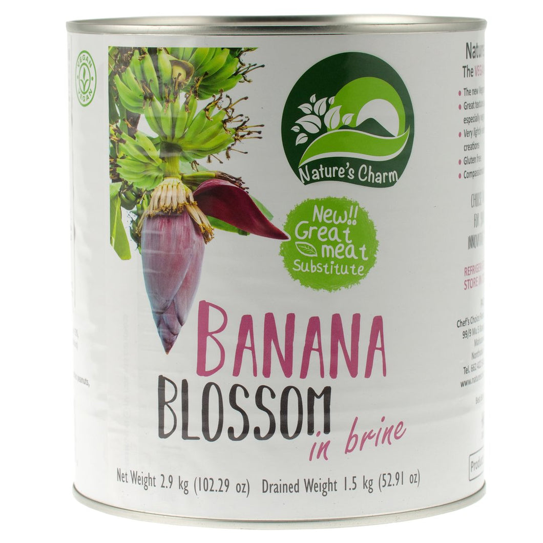 Banana Blossom in Brine BULK 2.9kg. The Plant Pantry is a Supplier and Distributor of Vegan and Plant Based Food to Sydney Cafes and Restaurants.