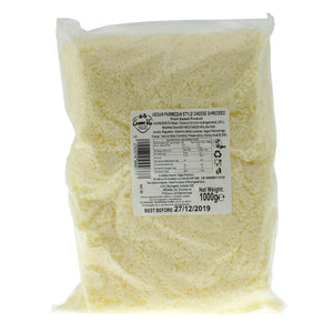 Parmesan Grated BULK 1KG. The Plant Pantry is a Supplier and Distributor of Vegan and Plant Based Food to Sydney Cafes and Restaurants.