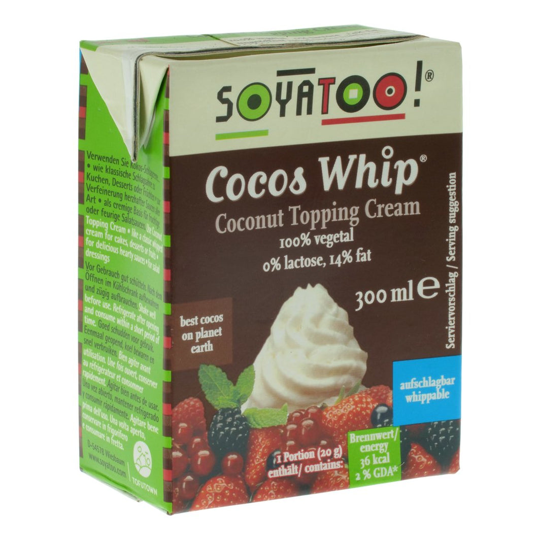 Coconut Whip Topping Cream. The Plant Pantry is a Supplier and Distributor of Vegan and Plant Based Food to Sydney Cafes and Restaurants.