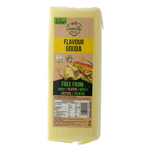 Gouda Block JUMBO 2.5kg. The Plant Pantry is a Supplier and Distributor of Vegan and Plant Based Food to Sydney Cafes and Restaurants.