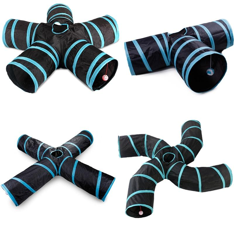 Indoor 2/3/4 5-way Collapsible Cat Tunnel Tube