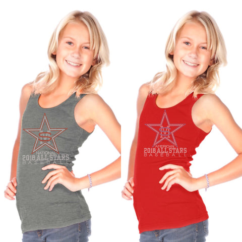 Girls/Juniors Beater Rib Tank-smas