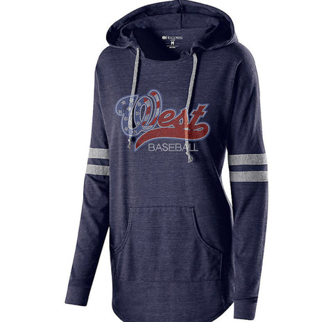 LADIES HOODED LOW KEY PULLOVER-bw