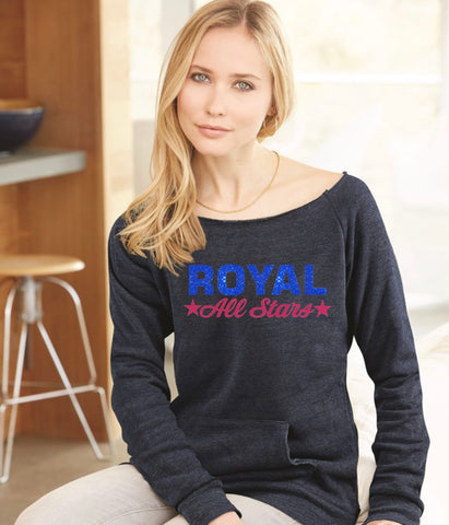Ladies Maniac Eco-Fleece Sweatshirt-Royal