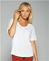 Ladies' Flowy Simple Tee-water