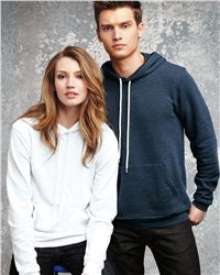 Unisex Poly/Cotton Hooded Pullover Sweatshirt-water