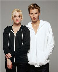 Unisex Full-Zip Hooded Sweatshirt-thunder