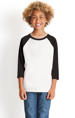 Youth CVC 3/4-Sleeve Raglan-le
