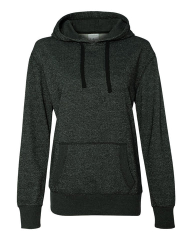 Women's Glitter French Terry Hooded Pullover-sc