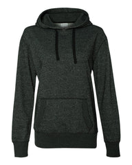 Women's Glitter French Terry Hooded Pullover-edison
