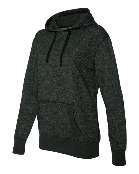 Ladies' Glitter French Terry Hooded Pullover-M