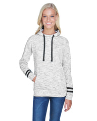 Ladies' Melange Scuba Neck Sweatshirt-Edison