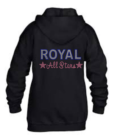 Youth/Adult Full-Zip Hooded Sweatshirt-royal