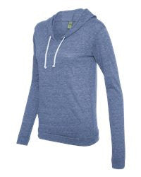Ladies' Eco-Jersey Athletic Hooded Pullover Tee -smll