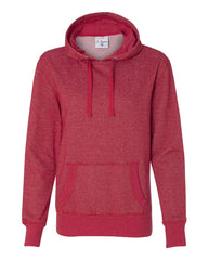 Women's Glitter French Terry Hooded Pullover-Bk