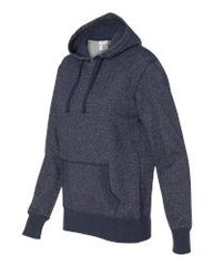 Ladies' Glitter French Terry Hooded Pullover-SAND