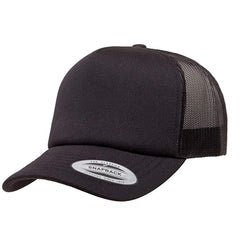 Curved Visor Foam Trucker with White Front Panel-k