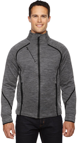 North End Sport Red Mens Flux Mélange Bonded Fleece Jacket