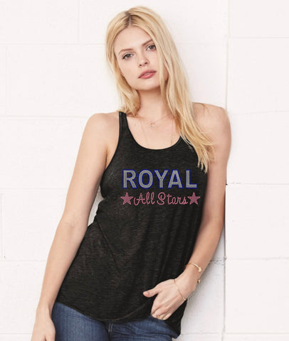 Women's Flowy Racerback Tank-royal