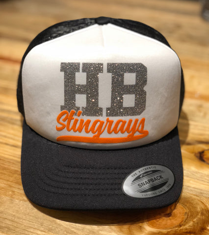 Curved Visor Foam Trucker with White Front Panel