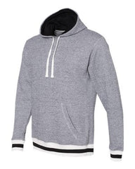 Peppered Fleece Lapover Hooded Pullover (Unisex)-SMPW