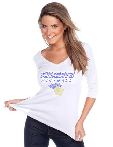 Women's V neck 3/4 sleeve top-k