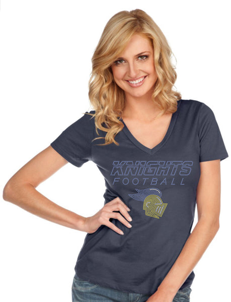 Women & Juniors Jersey Deep V Neck Short Sleeve-k