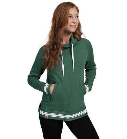 LADIES IVY LEAGUE FUNNEL NECK PULLOVER-knights