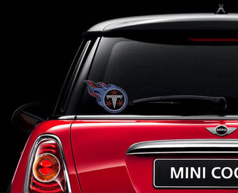 Tennessee Titans Rhinestone Car Decal