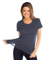 Womens & Juniors Jersey Crew Neck Short sleeve-EA